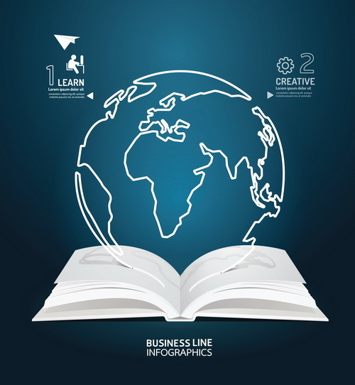 Educational information template design vector 02