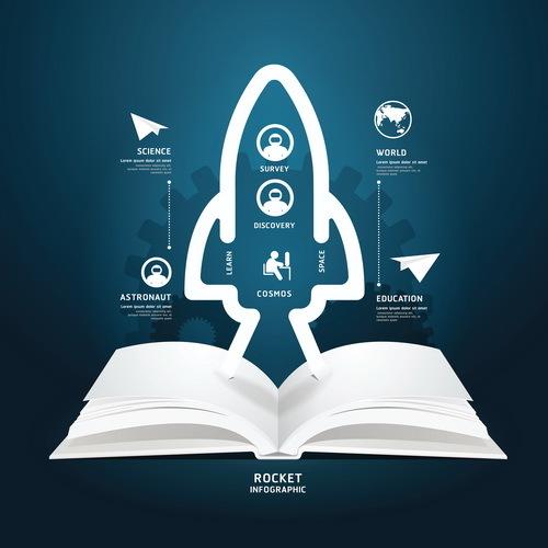 Educational information template design vector 05