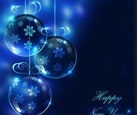 Elegant christmas card blue vector design