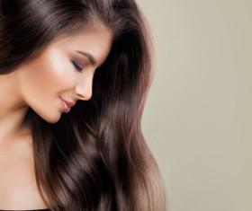 Elegant makeup ringletted lovely woman Stock Photo 02