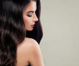 Elegant makeup ringletted lovely woman Stock Photo 14