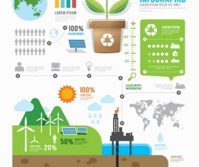 Energy business infographic vector 01