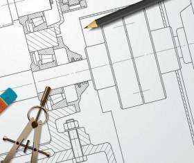 ... Engineer Design Drawings Template Vector 08 ...