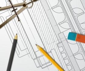 Engineer design drawings template vector 10