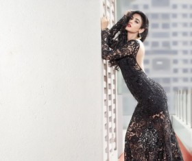 Fashion model outdoor photo Stock Photo