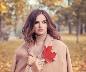 Fashion models in fall Parks Stock Photo 02