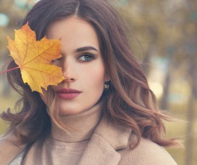 Fashion models in fall Parks Stock Photo 04