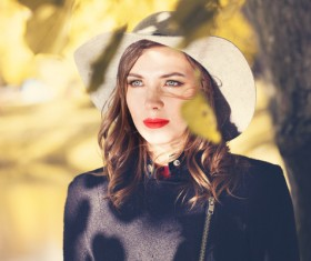 Fashion models in fall Parks Stock Photo 05