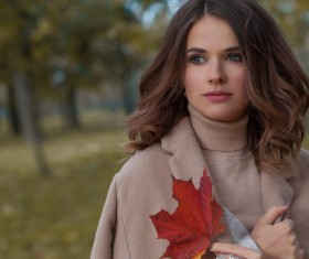 Fashion models in fall Parks Stock Photo 10