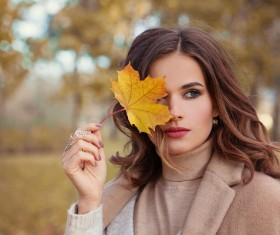 Fashion models in fall Parks Stock Photo 11