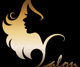 Fashion women sign with logo vectors set 02
