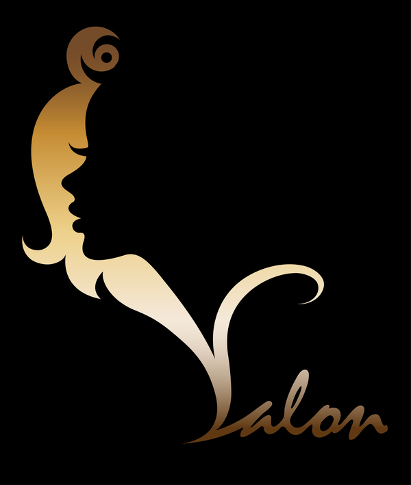 Fashion women sign with logo vectors set 03