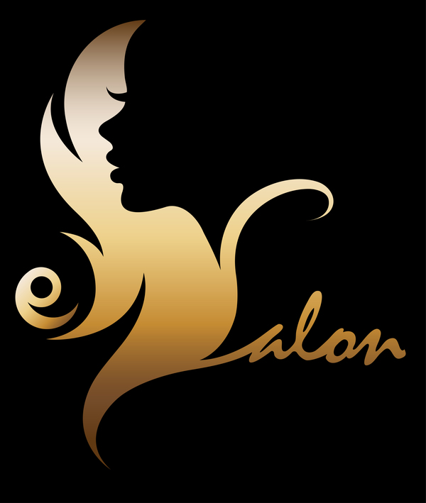 Fashion women sign with logo vectors set 04