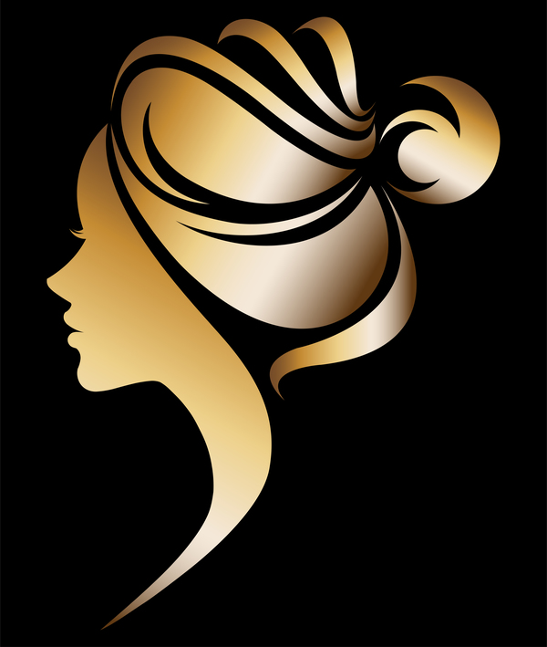 Fashion women sign with logo vectors set 11