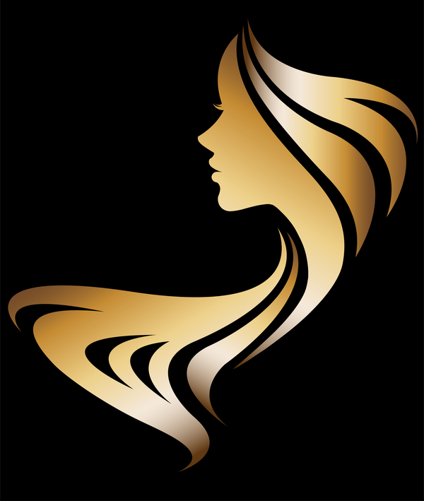Fashion women sign with logo vectors set 14
