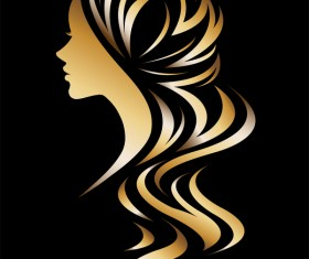 Fashion women sign with logo vectors set 17
