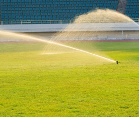 Field Irrigation System watering Stock Photo 20