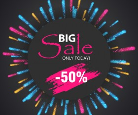Fireworks with sale background vector 03