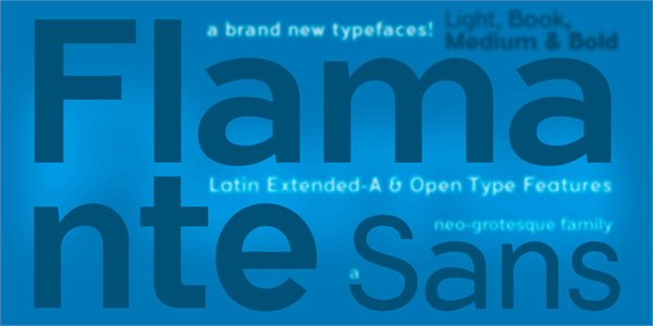 Flamante Sans Bold fonts