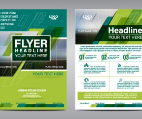 Flyer green modern template vector