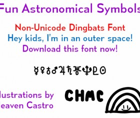 Fun Astronomical Symbols font