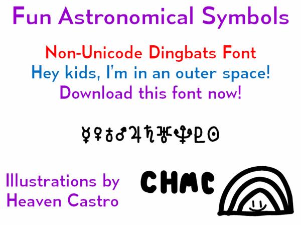 Fun Astronomical Symbols font