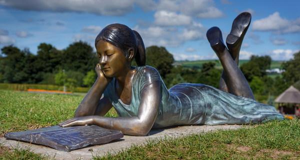 Girl bronze like Stock Photo