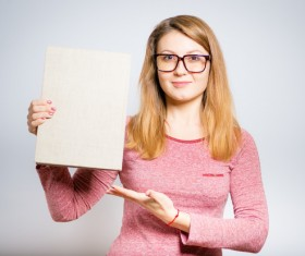 Girls recommend books Stock Photo