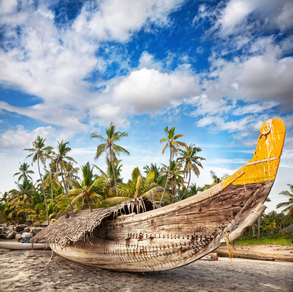 Beach Island: Goa Island Beach Beautiful Landscape Stock Photo 02 Free