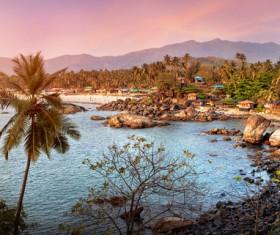 Goa island beach beautiful landscape Stock Photo 10