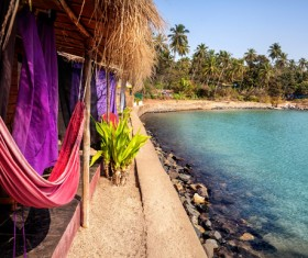 Goa island beach beautiful landscape Stock Photo 11