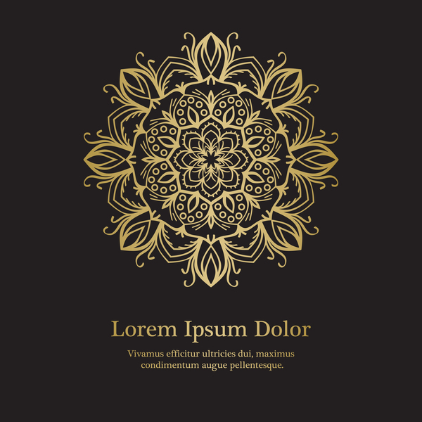 Golden mandala background design vector 08