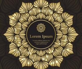 Golden mandala ornate background vectors 09