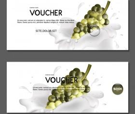 Grape voucher template vector 01