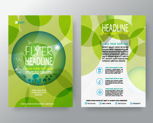 Green Abstract Flyer Template Vector  Vector Abstract Free Download