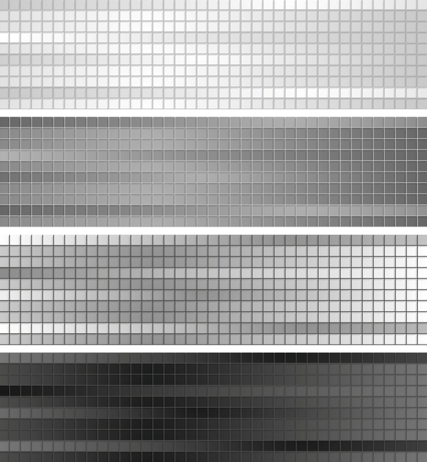 Gray squares banners vector background
