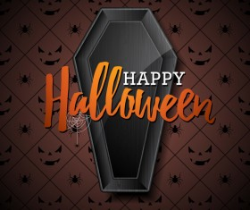 Halloween background with seamless pattern vector