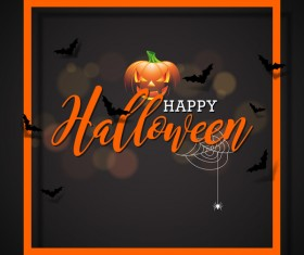 Halloween frame with black background vector