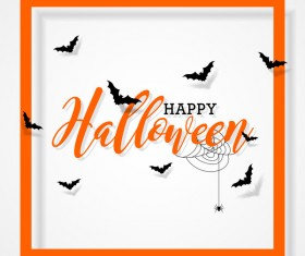 Halloween frame with white background vector