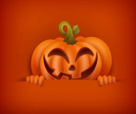 Halloween funny pumpkin design vectors 01