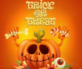 Halloween funny pumpkin design vectors 06