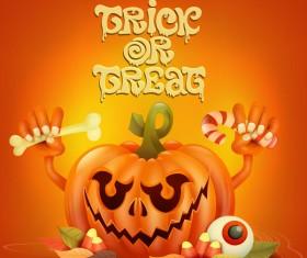 Halloween funny pumpkin design vectors 07