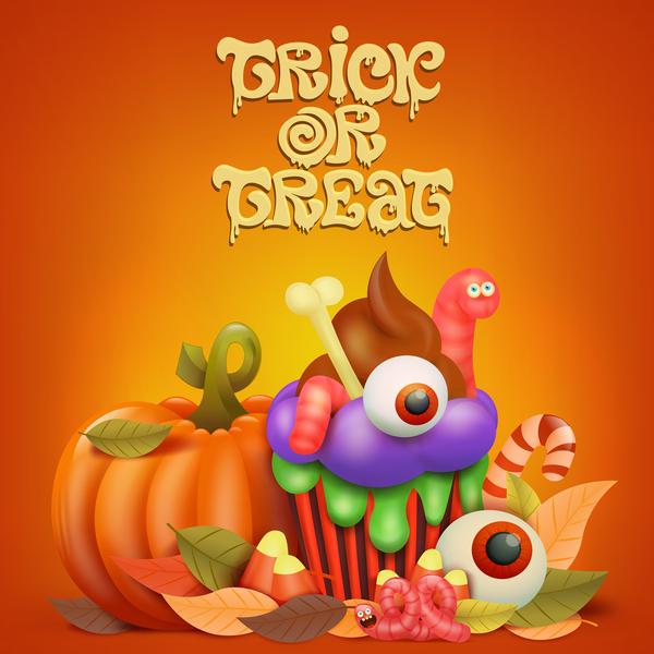 Halloween funny pumpkin design vectors 09