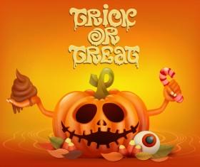 Halloween funny pumpkin design vectors 11