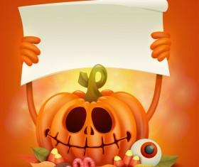 Halloween funny pumpkin design vectors 15