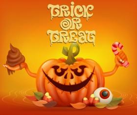 Halloween funny pumpkin design vectors 18