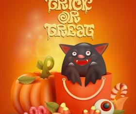 Halloween funny pumpkin design vectors 21