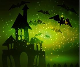 Halloween horror night background vectors 01