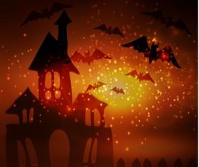 Halloween horror night background vectors 02