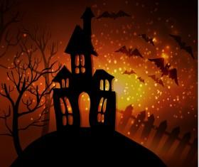 Halloween horror night background vectors 03